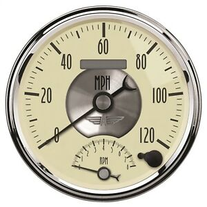 Autometer 2090 Prestige Series Antique Ivory Tach Speed Combo