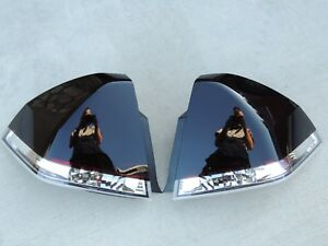 Custom 06 13 Chevy Impala Oe Smoked Tail Lights Black Painted Non Led Tinted
