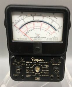 Simpson 260 Multi meter Series 5 Vintage As Is g37