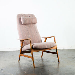 Mid Century Danish Modern Lounge Chair Recliner Fohlke Ohlsson Dux Artifort Arm