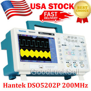 Hantek Dso5202p 2channel 7 tft Lcd 800x480 Usb Digital Oscilloscope 1gs s 200mhz