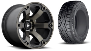 18 Fuel Beast D564 Black Wheels Rims And 33 Toyo Rt Tires 6x5 5 Chevy Gmc Tpms