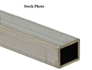 1 X 1 X 37 X 3 32 Wall 304 Stainless Steel Square Tube 13 16 X 13 16 Id