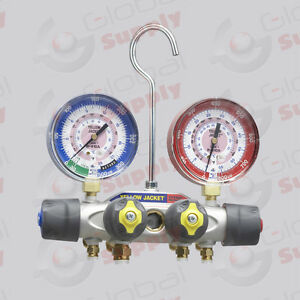 Yellow Jacket 49963 Titan Manifold Only 3 1 8 Gauges R 22 404a 410a f