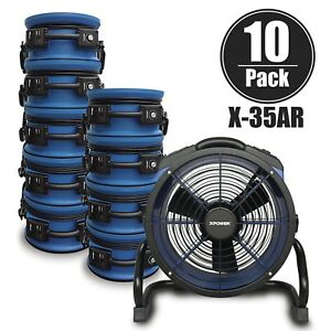 Xpower X 35ar High 1720 Cfm low 1 6 Amp Sealed Motor Axial Air Mover Fan 10 Pack