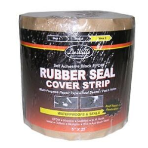 Dewitts Rubber Seal Epdm Cover Strip 5 x25 Black 710b Case Of 4 Rolls
