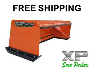 6 Orange Snow Pusher Box Pullback Free Shipping Skid Steer Bobcat Kubota Xp24