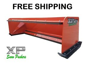 7 Low Pro Pullback Orange Snow Pusher Free Shipping Skid Steer Bobcat Kubota