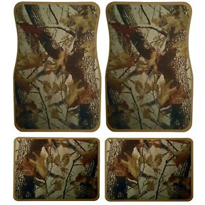 Universal Set 4pcs Car Floor Mats Rubber With Realtree Camouflage Design 87