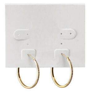 White Plastic Earring Cards Case Of 1 000