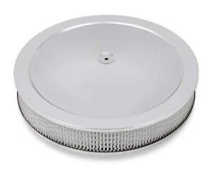 Holley 120 4135 4150 Drop Base Air Cleaner Chrome W 3 Paper Filter