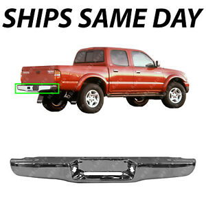 New Chrome Steel Rear Bumper Face Bar Shell For 1995 2004 Toyota Tacoma Pickup