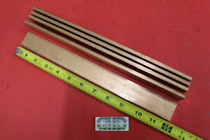 5 Pieces 1 4 x 1 1 4 C110 Copper Bar 12 Long Solid Flat Bus Bar Stock H02