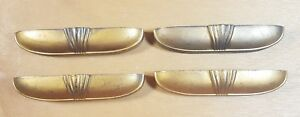 Vintage Art Deco Drawer Pulls Set Of 4 Metal