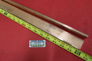 2 Pieces 1 4 x 1 1 4 C110 Copper Bar 24 Long Solid Flat Bus Bar Stock H02