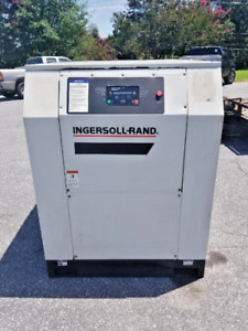 Used 40 Hp Ingersoll Rand Rotary Compressor Enclosed With Computer