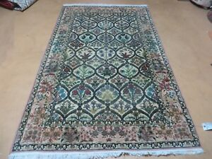 4 X 6 Vintage Hand Made Persian Chinese Tabriz Wool Rug Fine Carpet Birds Nice
