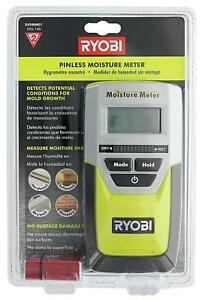 Ryobi E49mm01 Digital Led Pinless Moisture Meter For Softwood Drywall And
