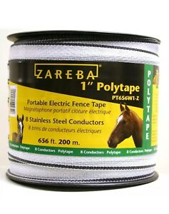 Electric Fence Polytape Livestock Horse Equine Fencing Electrical Conductor 200m
