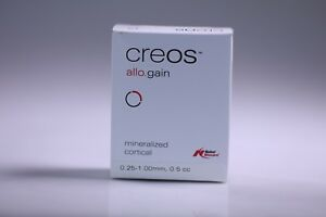 Nobel Biocare Creos Allo gain Mineralized demineralized Cortical 0 5 Cc New
