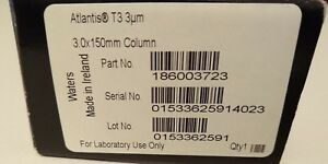 New Unopened Waters 186003723 Hplc Column Atlantis T3 3mm X 150 Mm 3um