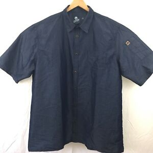 Chef Works Urban Collection Mens Shirt Size 2x Button Front Sleeve Pockets Nwot