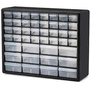 44 Drawer Plastic Bin Small Parts Hardware Crafts Storage Cabinet Organizer New