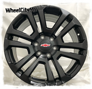 20 Inch Satin Black 2018 Chevy Silverado Tahoe Ltz Ck158 Oe Replica Wheels 6x5 5