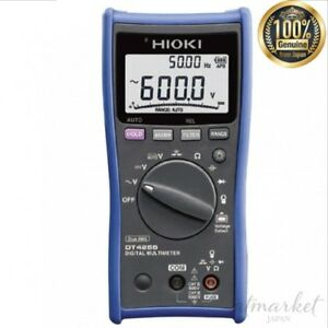Hioki Dt4255 Digital Multimeter Safety With Fuse At Voltage Measurement Terminal