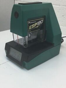 Acroprint Esp180 Date Time Employee Punch Time Clock Punch Card