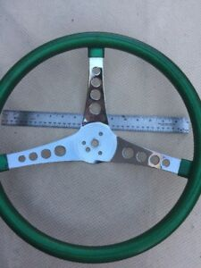 Vintage Superior Style Green Flake Steering Wheel 15 Inch