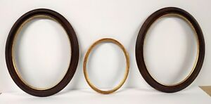 3 Vintage Oval Picture Frames Made In Italy With Leafing 2 11 X 14