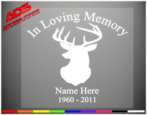 Deer Loving Memory Sticker Decal Vinyl Window Car Personalized Custom Truck 394