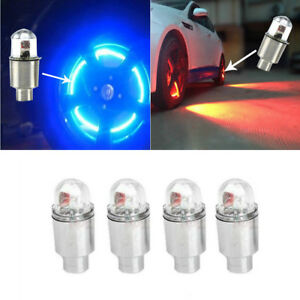 4x Led Dragonfly Car Wheel Tyre Decoration Tire Air Valve Stem Cap Light Lamps