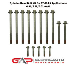 Pair Of Gm Ls Cylinder Head Bolt Kits For 1997 2003 Ls1 Ls6 4 8l 5 3l 5 7l 6 0l