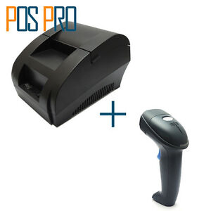 Thermal Receipt Printer Mini 58mm Pos Dot Bill Printer And Barcode Scanner Usb