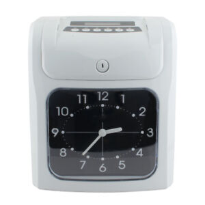 Safty Employee Attendance Punch Time Clock Payroll Recorder Lcd Display W Cards
