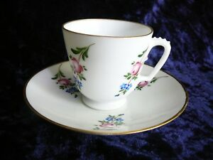Antique Russian Empirial Royal Cup And Saucer Sankt Petersburg