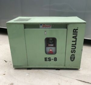 Pre owned Sullair Es 8 30h Air Compressor 30hp 240 480vac Year 1998 Nice