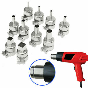 Square round Heat Gun Nozzles Welding For 850 852 Hot Air Soldering Station Us