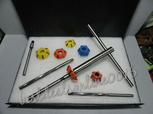 14 Pcs Valve Seat Cutter Kit Carbide Tipped With Hss Reamers Fast