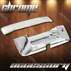 For 2014 2018 Gmc Sierra 1500 Polished Chrome Tailgate Handle Cover Overlay Trim