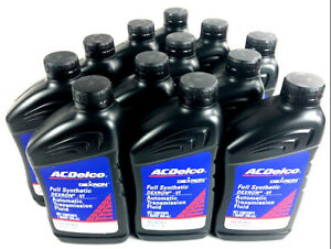 Acdelco Dexron Vi Full Synthetic 10 9243 Automatic Transmission Fluid 12 Quarts