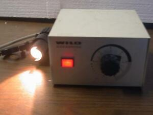 Wild Heerbrugg Leitz Mtr 22 Microscope Power Supply With Light Cable Leica