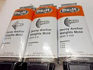 ROCK ISLAND SPORTS DO-IT DECOY ANCHOR MOLDS COMBINED SHIPPING OFFER!!!!