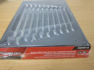 Brand New Snap On Soexm710 10 Pc 12pt Metric Flank Standard Comb Wrench Set