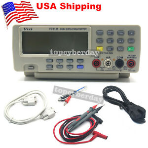 Vc8145 Dmm Digital Bench Multimeter Temp Tester Pc Analog 80k Counts Analog us