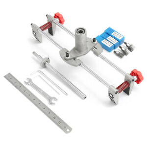 8pcs Mortice Door Fitting Jig Lock Mortiser Allen Key Kit Jig1 3 Cutters Tools