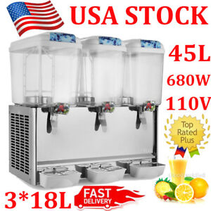54l Juice Beverage Dispenser 3 X 4 75 Gallon Cold Drink Commercial Refrigerated