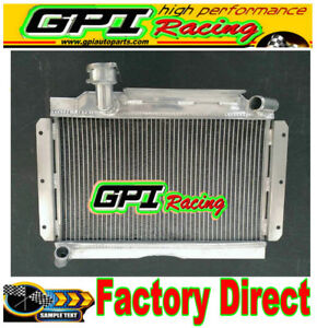 Aluminum Radiator For Mg Mga 1500 1600 1622 De Luxe 1956 1962 1957 Manual 56mm
